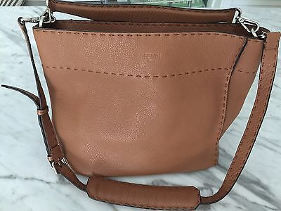 65b917c0a6d9 FENDI LIGHT BROWN Selleria Anna Tote-Shoulder Bag -  1