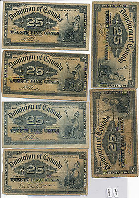RC0148 Canada 1900  25 Cents dominion a group of 6 combine shipping