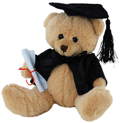 *new* Graduation Teddy Bear Sitting (Uni, Tafe, College) Soft Plush Toy 14Cm