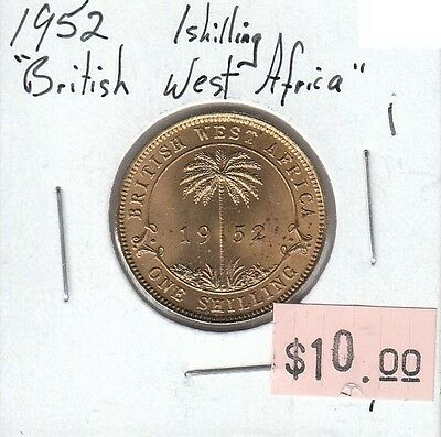 British West Africa 1 Shilling 1952 Circulated