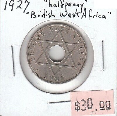 British West Africa 1/2 Half Penny 1927 Circulated