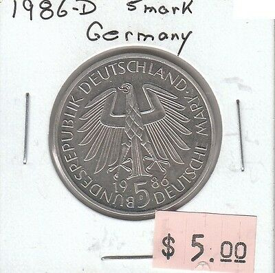 Germany 5 Mark 1986D Circulated