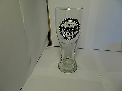 Big Boss Brewing Co. beer Pub heffe tall pint Glass special NEW FREE SHIPPING