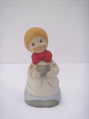 Vintage Jasco Bisque Porcelain Caroler Bell