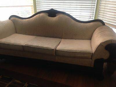 Vintage Kimball couch sofa solid wood large