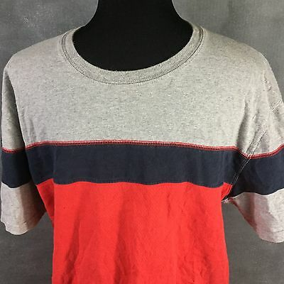 c18f086a Vintage Tommy Hilfiger T-Shirt Color Block Tommy Jeans Red Navy Large L