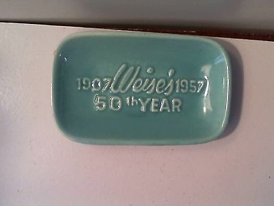 VINTAGE ROYAL HAEGER SOAP/TRINKET /CANDY DISH WEISE'S 50th YEAR 1907-1957 R1483