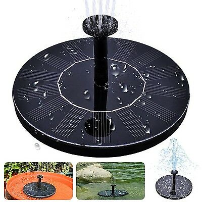 Solar Bird Bath Fountainmaxin Free Standing 1.4W Solar Panel Kit Water Pump O...