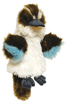 "*NEW* KIDS HAND PUPPET MUSICAL AUSTRALIAN BIRD ""KOOKABURRA"" SOFT TOY 25cm/10inch"