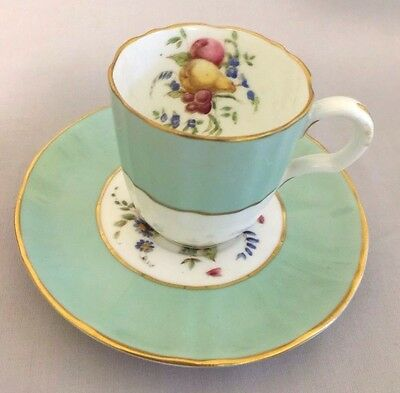 Antique Reproduction of Early Royal Worcester Plymouth Demitasse Cup & Saucer