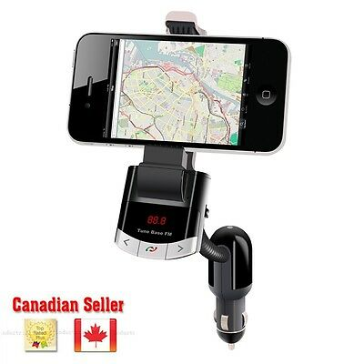 BT8118 FM Transmitter Bluetooth Car Kit USB MP3 Phone Holder Handsfree In Canada