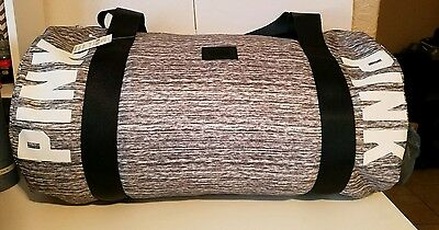 Pink by Victorias Secret large gray duffle/gym bag*NWT*