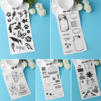 Transparent Silicone Rubber Clear Stamps Scrapbooking Embossing DIY Handcrafts