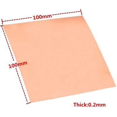 1PC 99.9% Pure Copper Cu Metal Sheet Foil Plate 0.2mm*100mm*100mm