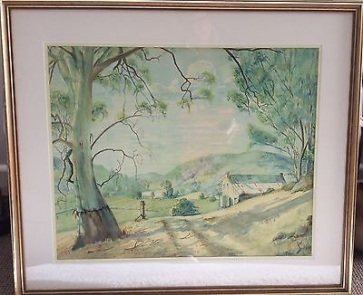 Original Australian Watercolour   Landscape Painting  Signed K . Carter