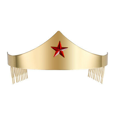 Metal Gold Wonder Woman Adult Tiara Crown Comic Cosplay Accessory Set Props