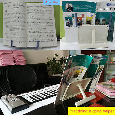 Foldable Desk Music Sheet Holder Rack Table Top Cook Book Reading Stand