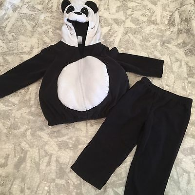 Carter's Unisex Outfit Size 24 Months Hooded Sweater Pants Panda Bear Costume