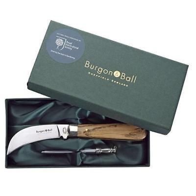 BURGON & BALL  |  Classic Pruning Knife & Steel Gift Set