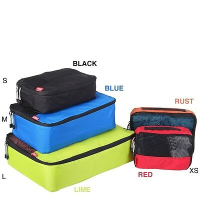 New! Packing Cube 4 Piece Classic Set LIGHTWEIGHT PACKING CELLS Aussie seller