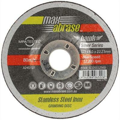 MaxAbrase Silver Series Grinding Disc, Stainless Steel - 10 pack