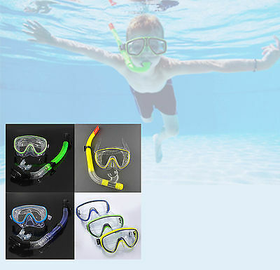 Adults Kids Snorkel And Mask Set Snorkeling Swimming Diving With Ear Plug