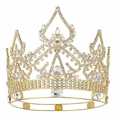 Queen Gold Full Crowns Rhinestone Pageant Party Women High Quality Crowns