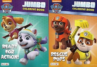 Paw Patrol Jumbo Colouring and Activity Book - Rescue Pups / Ready for Action
