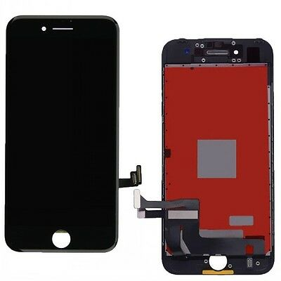 Black LCD Display Touch Screen Front Digitizer Assembly Replacement for iPhone 7