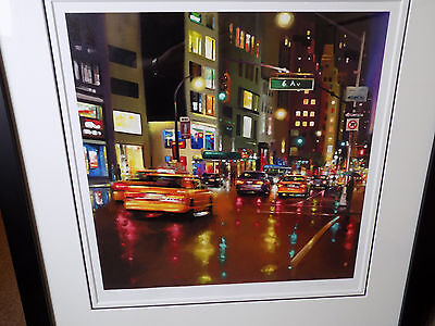 """Neil Dawson """"Avenue of the Americas""""  Limited Edition, Signed and Framed"""