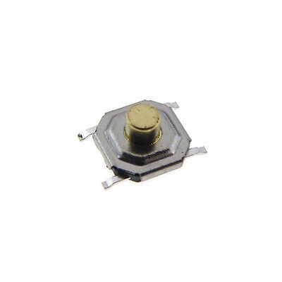 4x4x2.5mm Tactile Pushbutton Switch SMD SPST - Metal Actuator - QTY(30)