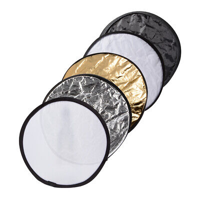 "12""/30CM 5 in 1 Photography Studio Photo Disc Collapsible Light Reflector LF789"