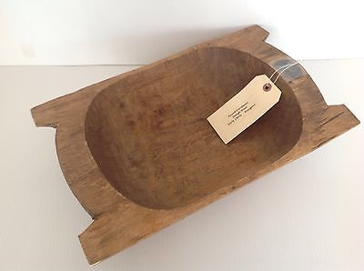 """Pottery Barn  Found Dough Bowl Oblong 19Th Century Small 16 1/2"""" Long"""