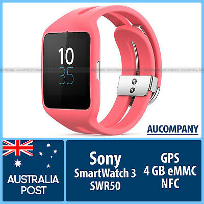 Sony SWR50 SWR 50 SmartWatch 3 Rose Pink Android Wear Bluetooth 4.0 NFC GPS