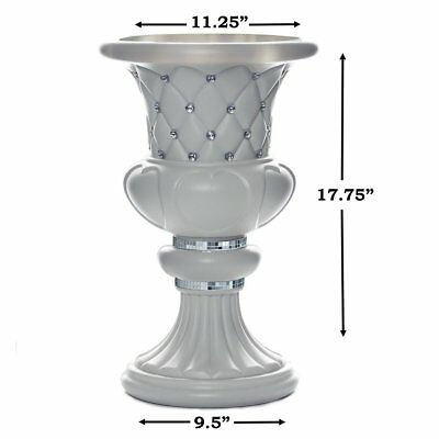 "4 pcs WHITE 17"" tall Decorative Wedding Party Vases Centerpieces Decorations"