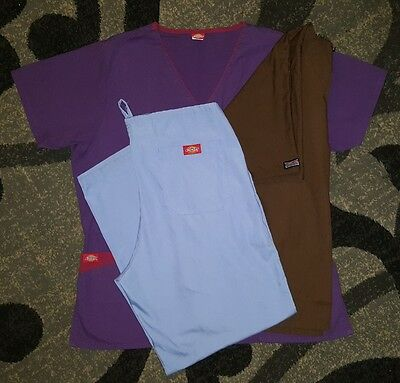 Cherokee Dickies womens scrubs size Large Lot