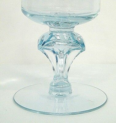 "TiFFiN TWiLiGHT BLUE PURPLE DiCHRONiC NEODYMiUM OPTiC GLASS 5.75"" WATER GOBLET"