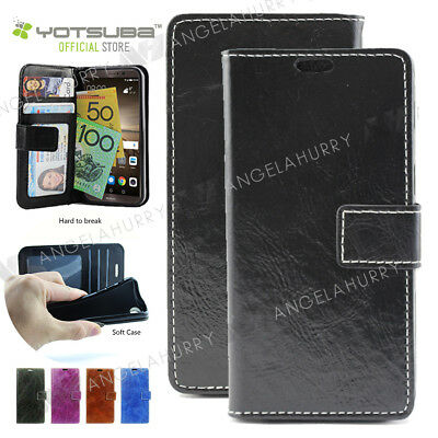 Moto Leather Flip Wallet Case, Moto G4 / G5 / Plus / X Force / Z play Cover AU