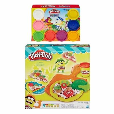 Play-Doh Pizza Party + Play-Doh Rainbow Starter Pack Bundle. Delivery is Free