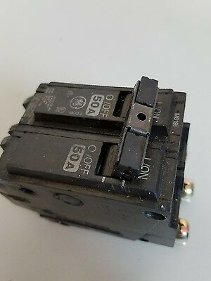 New GE THQB2150, 50 Amp 2 Pole 240 Volt Circuit Breaker- Warranty