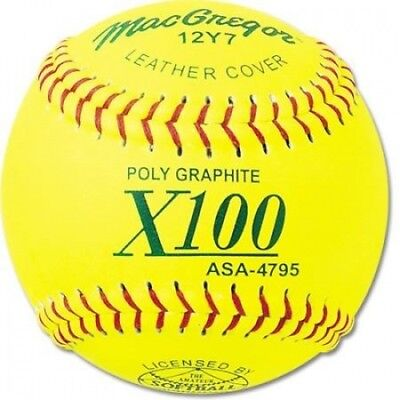 MacGregor ASA Approved Fastpitch Softballs, 1 Dozen. Shipping is Free