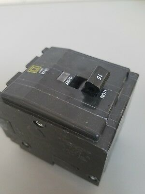New Square D QO315 Plug In Circuit Breaker 240VAC 15A 3 Pole