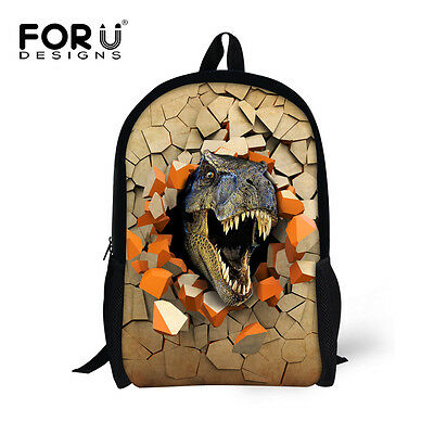 Junior School Backpack Animal Dinosaur Shoulder Book Bag for Kids Boys Schoolbag