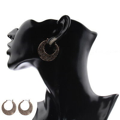 Retro Bohemian Style Hollow Irregular Crescent-shaped Fashion Earrings 2017 New