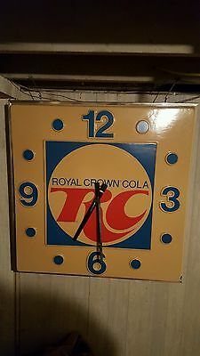 "Vintage Royal Crown Cola RC 36"" Advertising Lighted Clock NOT COKE COCA-COLA"