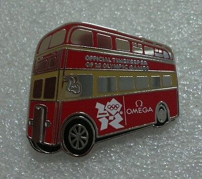 2012 London Olympic Official Timekeeper Omega Bus Pin Rare