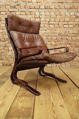 60er Leather Chair Danish Lounge Leather Easy Chair Vintage Denmark Rosewood 2