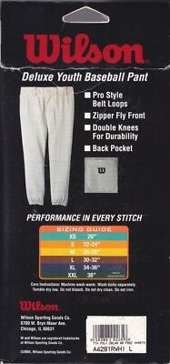 Youth Baseball Pant White Large 30-81.3cm. Best Price