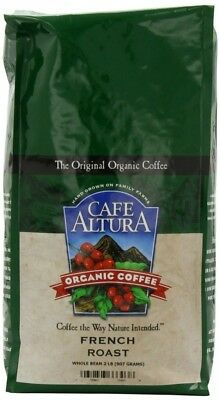 Cafe Altura Organic Coffee, French Roast, Whole Bean, 950ml Bags. Huge Saving