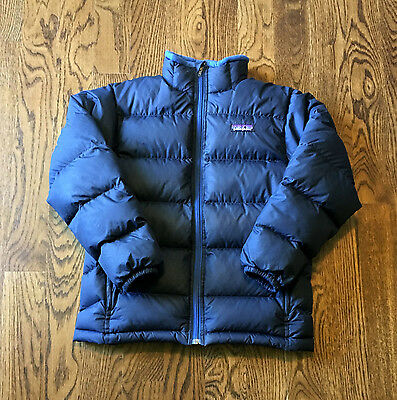 Patagonia Down Jacket Kids Large Youth Puffer Warm Winter Blue Youth